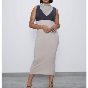 NWT Zara Sweater Dress and Cropped Knit Vest sz S